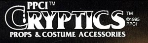 CRYPTICS PROPS COSTUMES ACCESSORIES