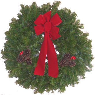 "#BWREATH 12"" BALSAM DECORATED CHRISTMAS WREATH"