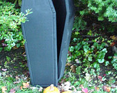 "BLACK COFFIN/COOLER- 30""L X 11.75""W X 7 3/8""D BY POLLY PRODUCTS"