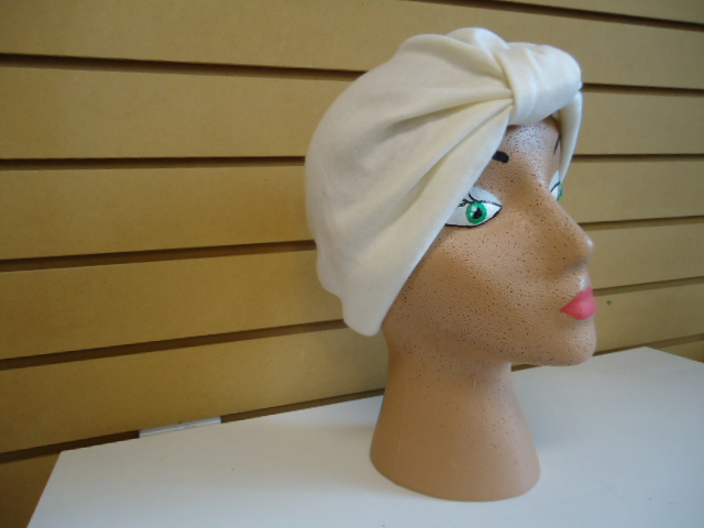 COTTON JERSEY TURBAN-NATURAL OFF WHITE