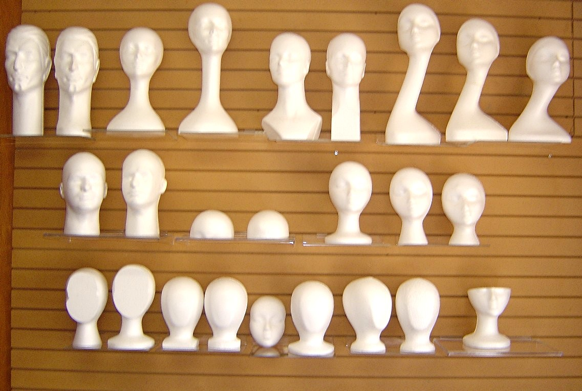 WHITE MANNEQUIN HEAD FORMS