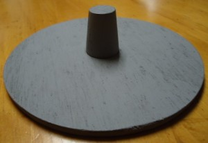 """#SB2025CC  COLOR-COATED GREY 7"""" ROUND DISPLAY SUPPORT BASE FOR MANNEQUIN HEADS"""