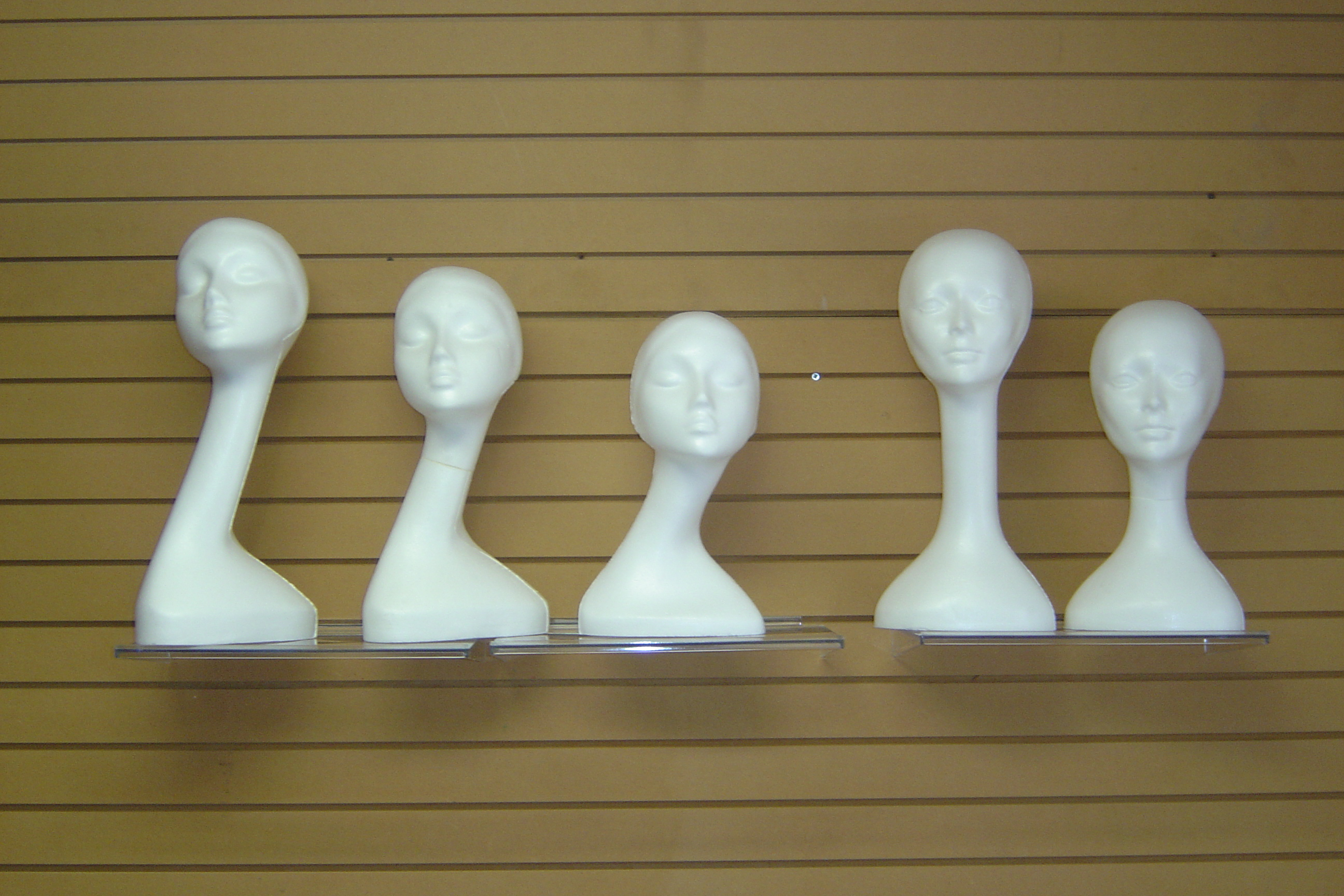 LONG NECK AND MEDIUM NECK MANNEQUIN HEAD FORMS