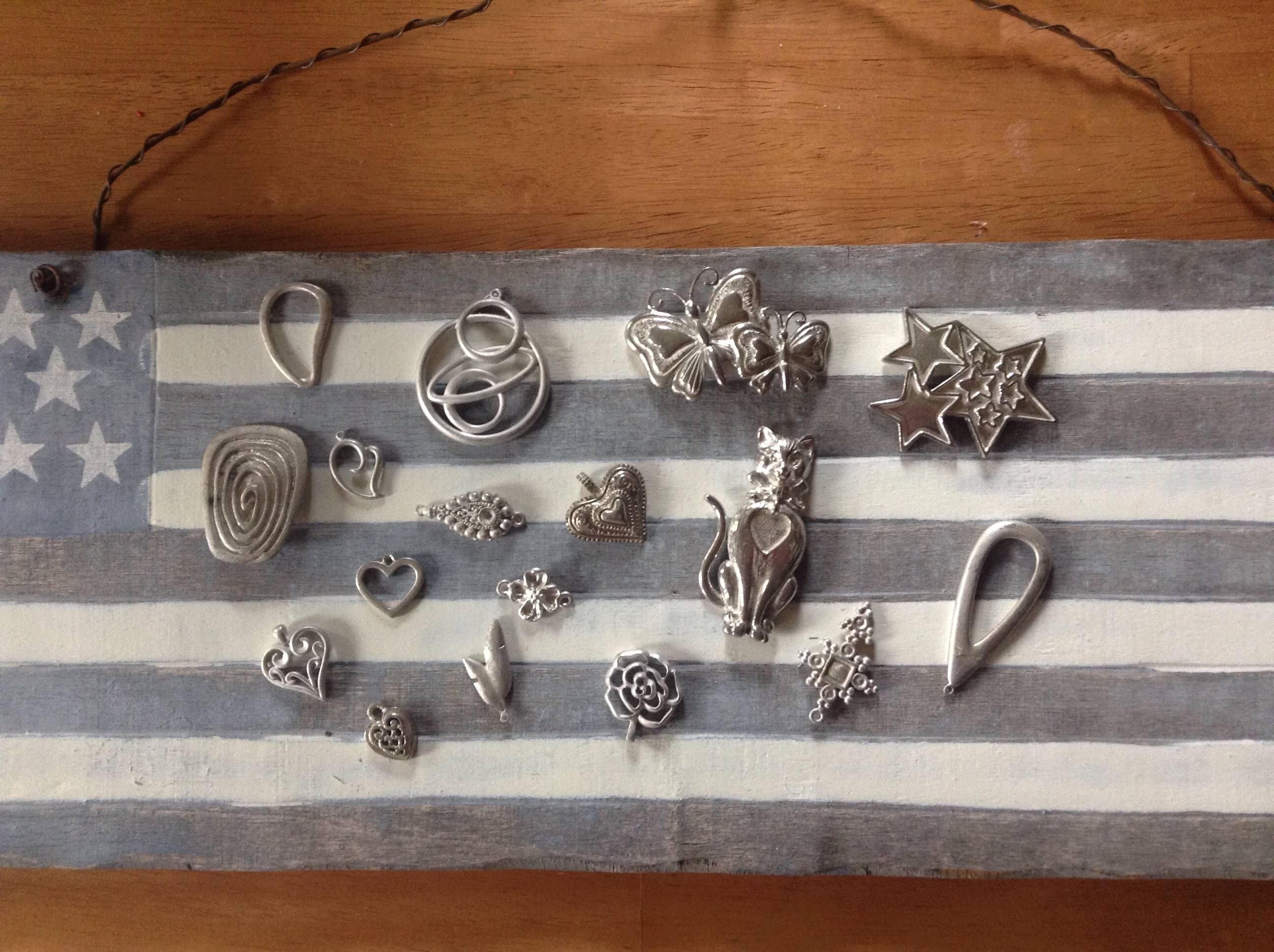 jewelry castings with USA Flag