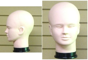 MALE RUBBER MANNEQUIN HEAD FORM
