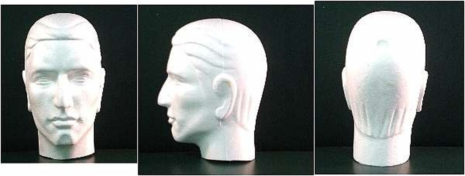 """#6266XS 12""""H Male Mannequin Head-Stylized"""