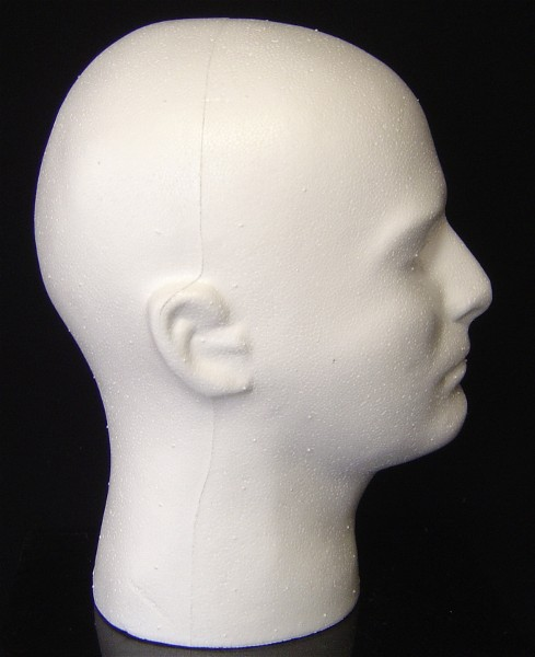 """#6278X   11""""H MALE HEAD FORM BY POLLY PRODUCTS COMPANY"""