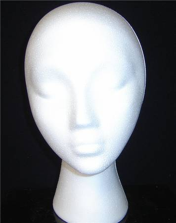 "#80012XPLN 11.5""H FEMALE HEAD FORM BY POLLY PRODUCTS COMPANY"