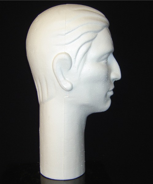 "#6264X 16""H STYLIZED MALE MANNEQUIN BY POLLY PRODUCTS COMPANY"