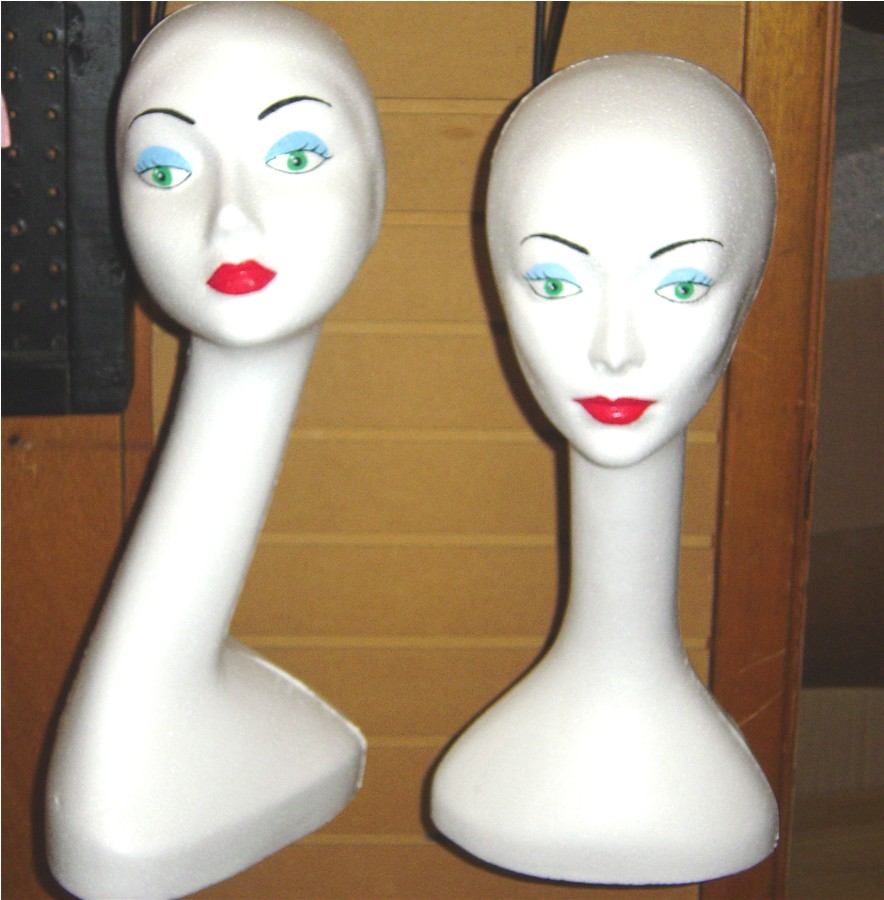 """#6303XCM & #6204XCM 20""""H Swan Neck and 19""""H Long Neck Cosmetique Mannequins"""