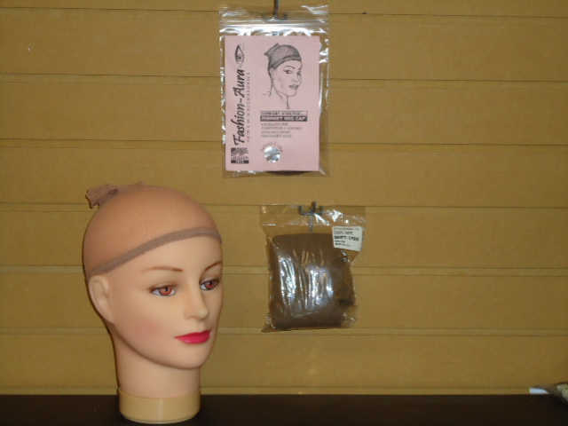 #FC650 FISHNET WIG CAP AND 12PK BULK AND 1PK RETAIL PKG.