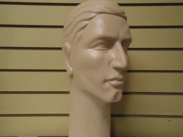"#626CCC-1 16""H MALE COLOR-COATED tm STYLIZED MANNEQUIN HEAD"