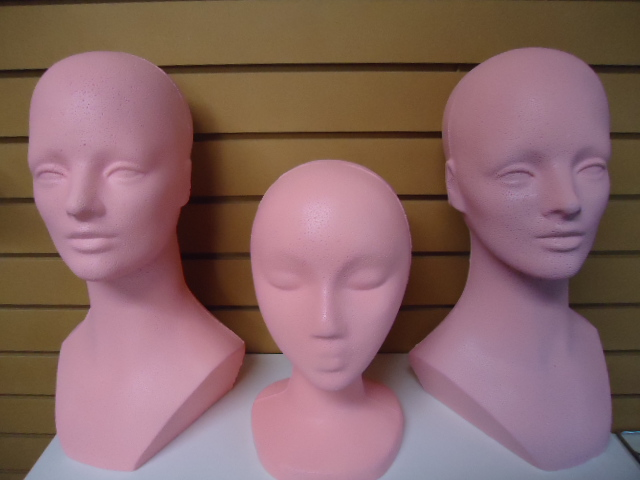 PINK MANNEQUIN HEAD FORM GROUP-COLOR-COATED tm