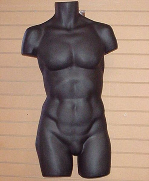 #7720B MALE TORSO-PLASTIC BLACK