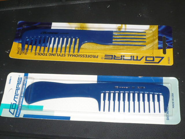 #390 and #395 COMARE PLASTIC HANDLE COMBS AND PICK COMBS