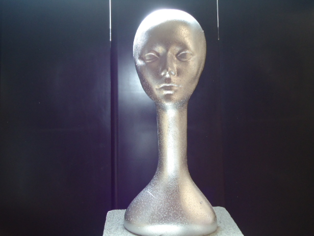 """#620CCCH  19""""H LONG NECK MANNEQUIN- COLOR-COATED tm  CHROME HIGH GLOSS"""