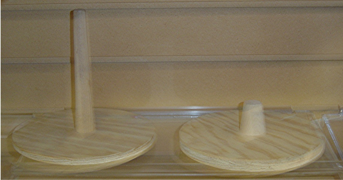 #SB2025 WOODEN SUPPORT/DISPLAY BASE FOR MANNEQUIN HEADS