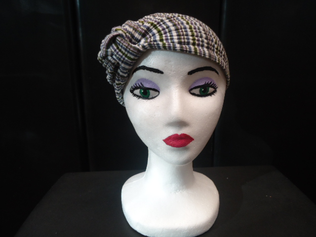 #DFTURBAN COTTON JERSEY MULTI-STRIPE PATTERN COOL CAP tm