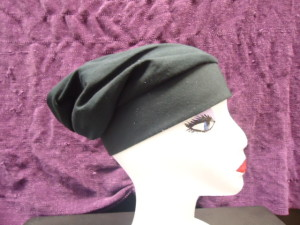 #CHAT  CHEF'S STYLE HAT- COTTON JERSEY BLACK