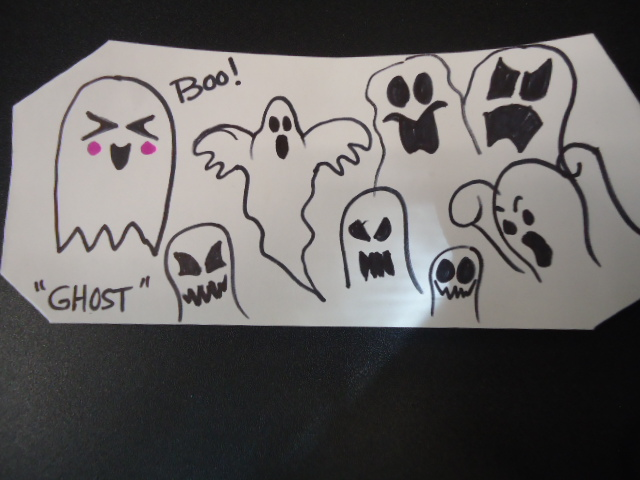 EXAMPLES OF AVAILABLE GHOST TYPES/FACES