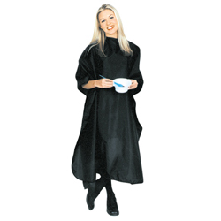 "#CAPEC-BK  BLACK NYLON CHEMICAL CAPE- 60"" X 45"""
