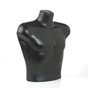 #778-BK MALE TORSO/SHIRT FORM-BLACK POLLY PRODUCTS