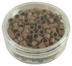 #ITB-016-LB MICRO-LOCK BEADS FOR I-TIP HAIR EXTENSIONS-LIGHT BROWN