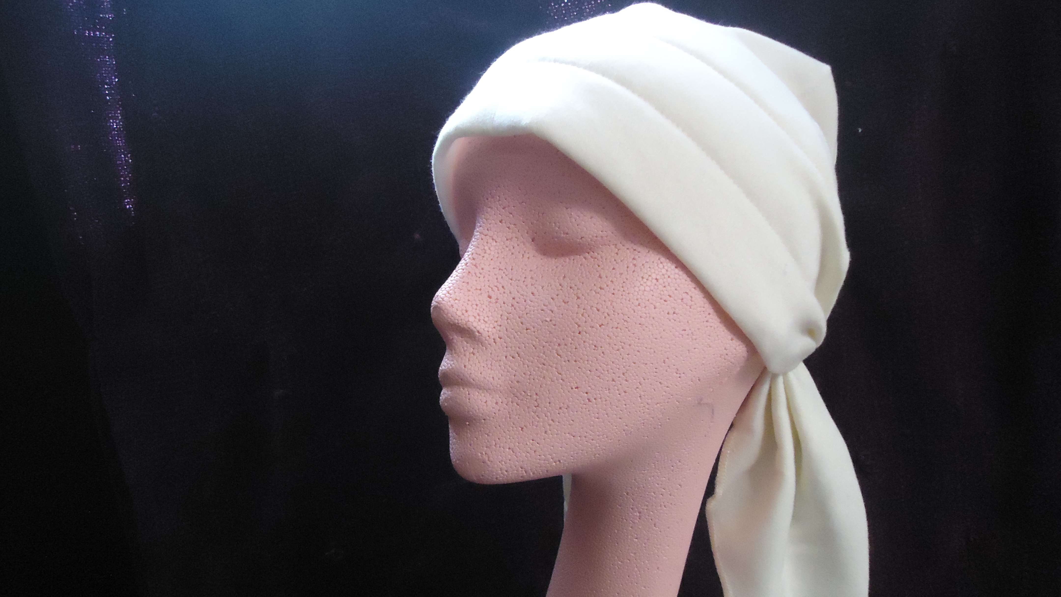 #JTIETURBAN-NAT FASHION-AURA tm JERSEY COTTON TIE TURBAN BY POLLY PRODUCTS CO.