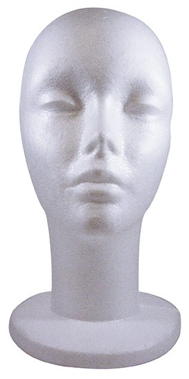 "#768W10X 12.5""H FEMALE HEAD FORM-WIDE BASE POLLY PRODUCTS COMPANY"